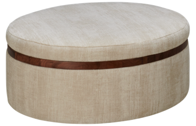 Jonathan Louis Design Lab Accent Round Storage Ottoman