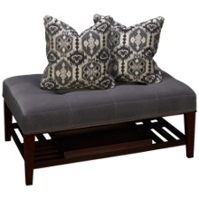 Bauhaus Select Cocktail Ottoman with Tray and 2 Pillows