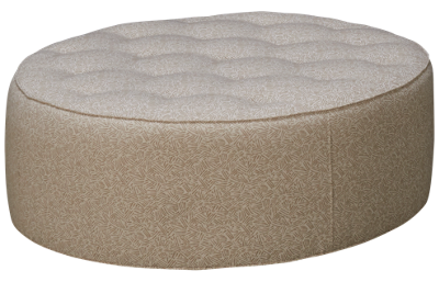 Huntington House Plush Accent Round Ottoman