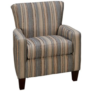 Beige Accent Chairs With Blue Stripes.Klaussner Home Furnishings Ronaldo Accent Chair
