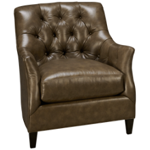 Huntington House Traditional High Back Leather Accent Chair