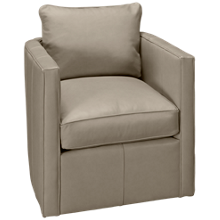 Rowe Hayes Leather Accent Swivel Chair