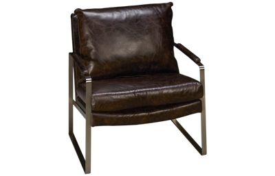 Max Home Cole Leather Accent Chair