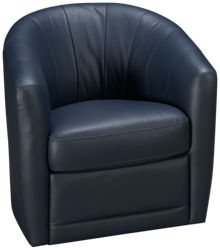 Natuzzi Editions Antonio Leather Accent Swivel Chair
