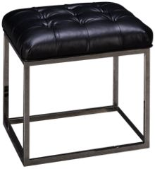 Rowe Gillian Leather Accent Cube Ottoman