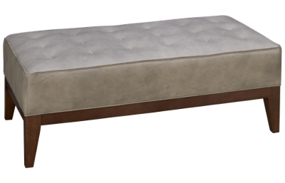 Huntington House Solutions 2 Leather Accent Ottoman