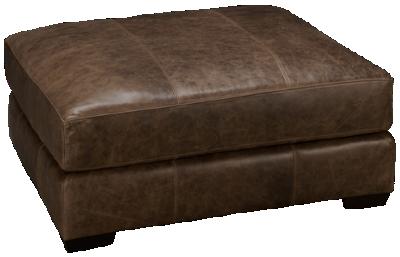 Bernhardt Dawkins Leather Ottoman