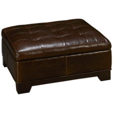 Jonathan Louis Belaire Leather Accent Storage Ottoman