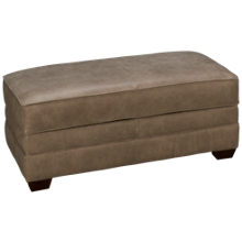 Klaussner Home Furnishings Selection Leather Accent Storage Ottoman