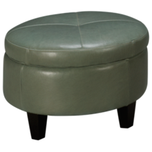 Jonathan Louis Margaret Leather Accent Storage Ottoman