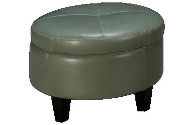 Jonathan Louis Margaret Leather Accent Storage Ottoman