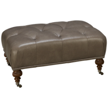 Rowe Morgan Leather Accent Ottoman
