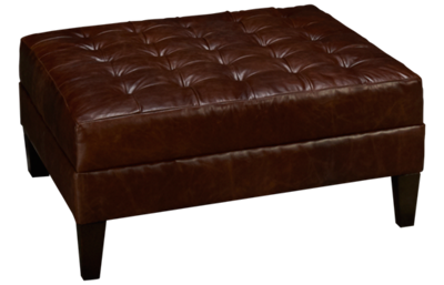 Max Home Harley Leather Accent Ottoman