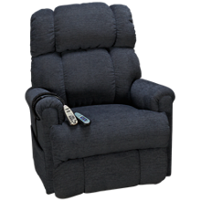 UltraComfort Oxford Power Lift Wall Recliner with Heat and Massage