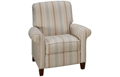 Klaussner Home Furnishings Clanton Accent Push Back Recliner