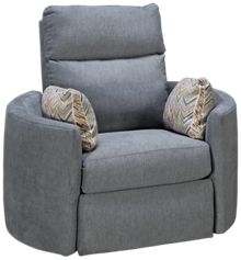 Klaussner Home Furnishings Cora Accent Swivel Recliner
