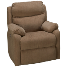 Klaussner Home Furnishings Solitaire Power Rocker Recliner with Tilt Headrest and Lumbar