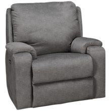 Klaussner Home Furnishings Moving Your Way Power Rocker Recliner with Tilt Headrest and Lumbar