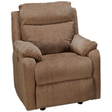 Klaussner Home Furnishings Solitaire Power Rocker Recliner with Tilt Headrest