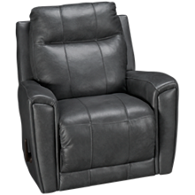 Klaussner Home Furnishings Priest Leather Rocker Recliner