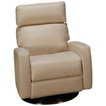 American Leather Elliot Leather Power Swivel Recliner with Tilt Headrest