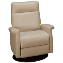 American Leather Fallon Leather Power Swivel Recliner with Tilt Headrest