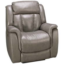 Futura Roswell Leather Power Recliner with Tilt Headrest