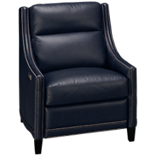 Bernhardt Richmond Leather Power Recliner with Tilt Headrest