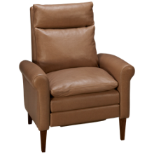 American Leather Burke Leather Push Arm Recliner