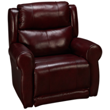 Southern Motion Hamilton Leather Power Wall Recliner with Tilt Headrest