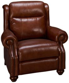 Era Nouveau Braden Leather Power Recliner with Power Tilt Headrest