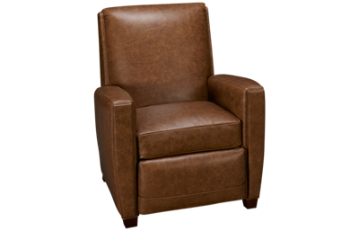 Huntington House Roll Nail Leather Accent Power Recliner