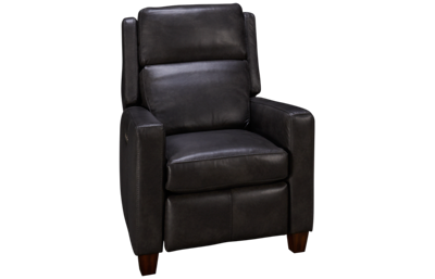 Flexsteel Lennox Power Leather Recliner with Power Headrest
