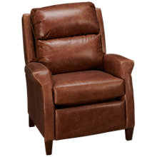 Klaussner Home Furnishings Walsh Leather Power High Leg Recliner with Tilt Headrest