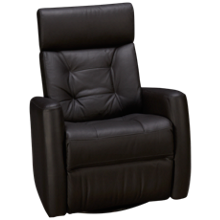 Palliser Baltic II Leather Power Swivel Glider Recliner with Tilt Headrest