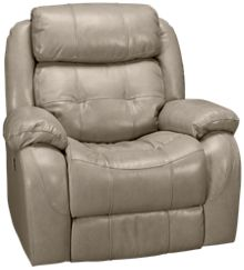 Synergy Montana Leather Power Rocker Recliner with Headrest