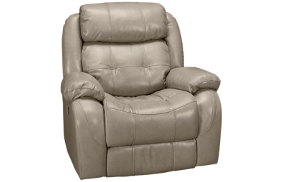 Synergy Montana Leather Power Rocker Recliner with Tilt Headrest