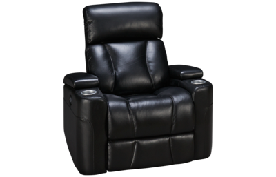 Synergy Barrington Leather Power Recliner with Lumbar and Headrest