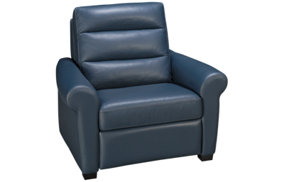 American Leather A Series Leather Power Recliner with Tilt Headrest