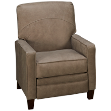 Klaussner Home Furnishings Selection Leather Power High Leg Recliner