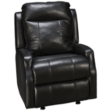 Klaussner Home Furnishings Mirra Leather Power Rocker Recliner with Tilt Headrest and Lumbar