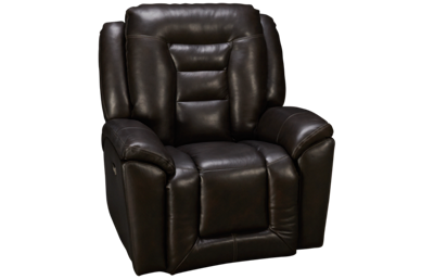 Southern Motion Grid Iron Leather Power Wall Recliner with Tilt Headrest