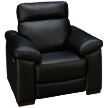 Natuzzi Editions  Estremo Leather Power Recliner with Tilt Headrest
