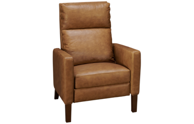 Huntington House Mini Pit Leather Accent Recliner