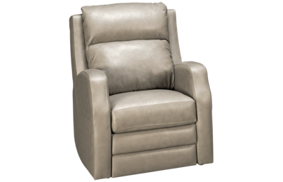 Klaussner Home Furnishings Kamiah Leather Power Rocker Recliner with Tilt Headrest and Lumbar