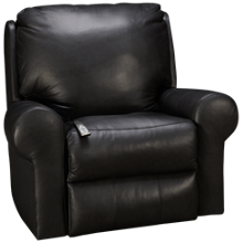 Klaussner Home Furnishings Moving Your Way Leather Power Rocker Recliner with Tilt Headrest, Lumbar, Heat and Massage