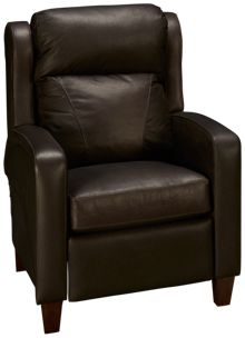 Klaussner Home Furnishings Homestead Leather Power Recliner with Lumbar and Power Tilt Headrest
