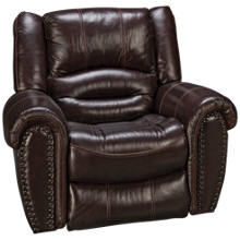Flexsteel Crosstown Leather Power Recliner with Power Headrest