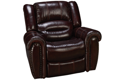 Flexsteel Crosstown Leather Power Recliner with Tilt Headrest