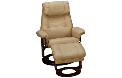 Benchmaster Ventura Leather Chair and Storage Ottoman